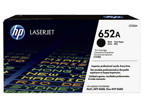 Mực in Laser màu đen HP 652A Black Original LaserJet Toner Cartridge (CF320A)