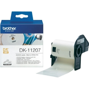 Nhãn Brother DK11207, CD/DVD Label for QL, 58mm x 58mm,  100 nhãn
