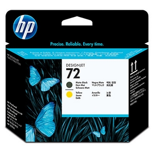 HP 72 Matte Black and Yellow Printhead (C9384A)